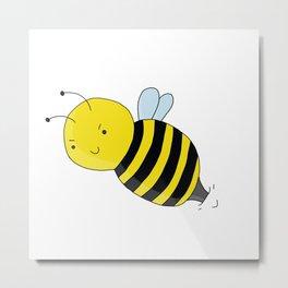 Bee Angry Metal Print