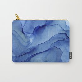 Blue Ultramarine Ink Painting Carry-All Pouch