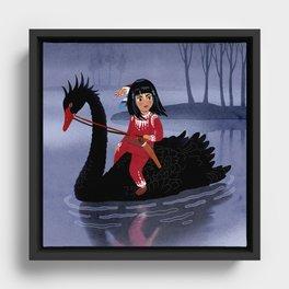 Swan Princess Framed Canvas