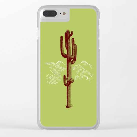cactus y nieve Clear iPhone Case