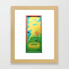 2013 - burning up (we're toast!) Framed Art Print
