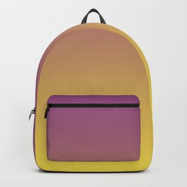 Purple and Yellow Ombre Gradient Blend 2021 Color of the Year Illuminating & Accent Shade Backpack