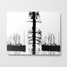 Trees in Transition Metal Print
