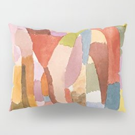 Movement Of Vaulted Chambers by Paul Klee 1915 Pillow Sham