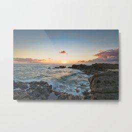 Sunset Kaena Point, Hawaii Metal Print