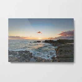 Sunset Kaena Point, Hawaii Metal Print