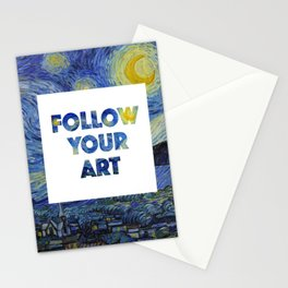 Follow Your Art Stationery Cards