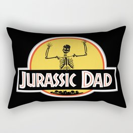 Jurassic Dad Skeleton Funny Birthday Gift Rectangular Pillow