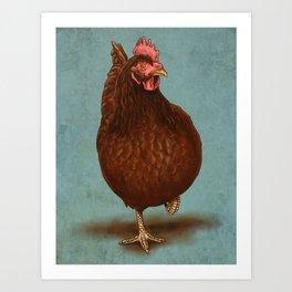 Rhode Island Red Hen Art Print