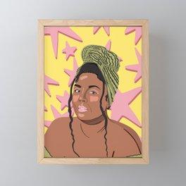 Lizzo Singer Illustration Printing  Framed Mini Art Print
