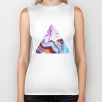 model Biker Tanks featuring Agate, a vivid Metamorphic rock on Fire by Elena Kulikova