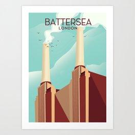 Battersea London Art Print