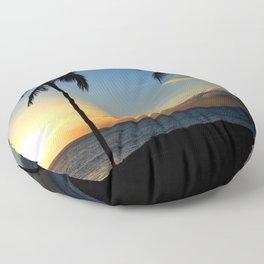 Alii Kahekili Nui Ahumanu Beach Maui Hawaii Sunset Kaanapali Floor Pillow