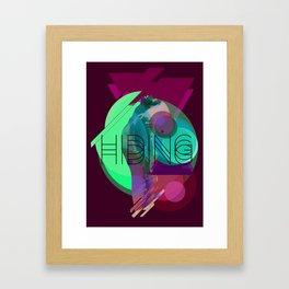 Hiding Tonight Framed Art Print