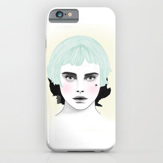 Fashion Illustration - Chanel Green iPhone & iPod Case