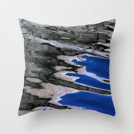 grey abstract water reflection Throw Pillow