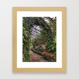 Botanical Garden Arch Framed Art Print