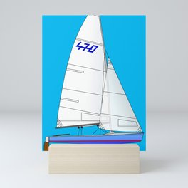 470 Olympic Sailboat Mini Art Print