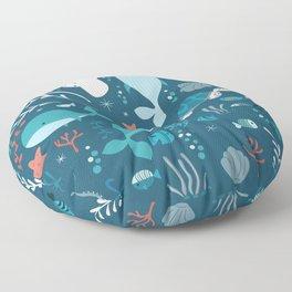 Sea creatures 004 Floor Pillow