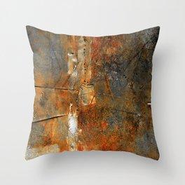 Rust Texture 72 Throw Pillow