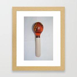 Hopi Gourd Rattle; Pottery Design 1 Framed Art Print