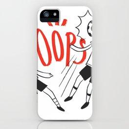 Kids kicking Ball iPhone Case