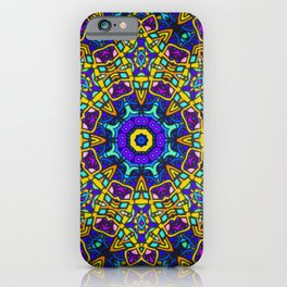 Persian kaleidoscopic Mosaic G522 iPhone Case