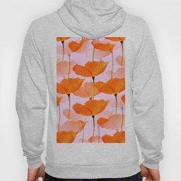 Orange Poppies On A Pink Background #decor #society6 #buyart Hoody