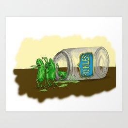 When Good Pickles Go Bad Art Print