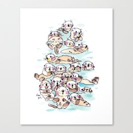 Wild family series - Otters Canvas Print