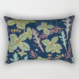 dark herbs pattern Rectangular Pillow