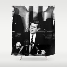 John F Kennedy JFK Speech Shower Curtain