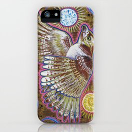 Soaring (Red-Tailed Hawk Painting) iPhone Case