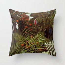 """Henri Rousseau """"Exotic landscape"""", 1908 Throw Pillow"""