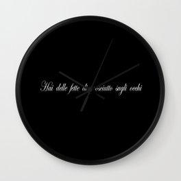 Hai,delle fette di prosciuttosugli occhi Wall Clock