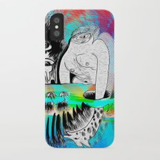 Giraffe Eyes in the Magnetic Field Slim Case iPhone X