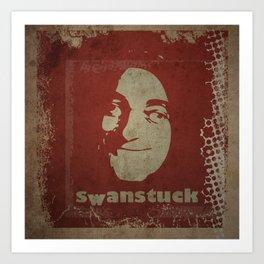 Swanstuck! Art Print