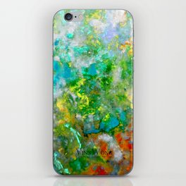Abstract Art in Color Symphony Green iPhone Skin