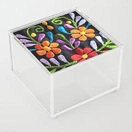 Mexican Flowers Acrylic Box