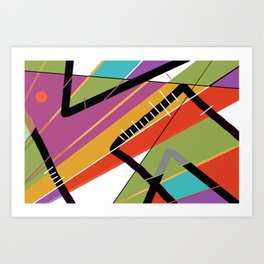 Colors tropic metal Art Print