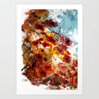 poppies Art Prints featuring Poppies by James Peart
