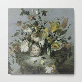 Still Life Flowers In a Vase, 1700-1799 Metal Print