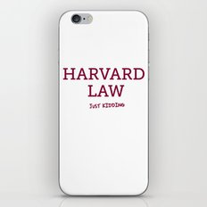 Harvard Law iPhone & iPod Skin