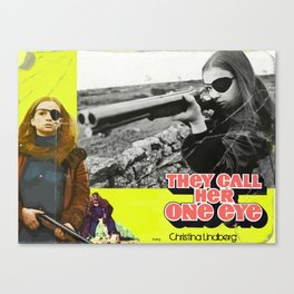They Call Her One Eye Reimagined Movie Poster Canvas Print