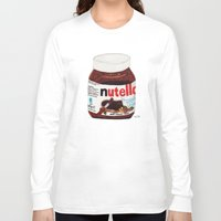nutella Long Sleeve T-shirts featuring Nutella by Angela Dalinger