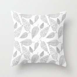 Color Me Leaves Throw Pillow