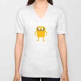 jake pixel Unisex V-Neck