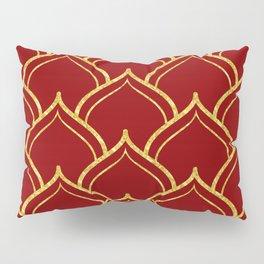 Gold and dark-red Islamic motive pattern Pillow Sham