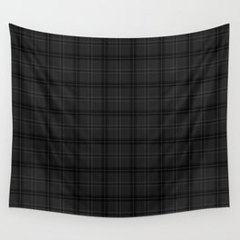 Grey Buffalo plaid Wall Tapestry