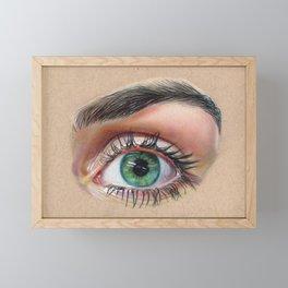 Eye Drawing Framed Mini Art Print